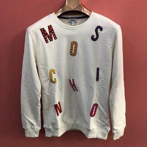 Moschino Women Embroidery White Sweatshirt